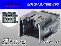●[TE]040 type 12 pole multi-lock M connector [black](no terminals) /12P040-MTL-TE-BK-M-tr