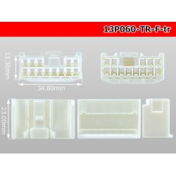 Photo3: ●[To-kai-Rika]090 type 13 pole F connector (no terminal) /13P090-TS-F-tr