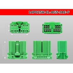 Photo3: ●[JAE]025 type IL-AG5 series 14 pole F connector (no terminals) /14P025-IL-AG5-JAE-F-tr