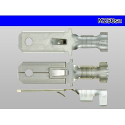 Photo3:  250 type (for 0.85-2.0mm2 electric wire) male terminal [sn plating] / M250sn