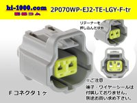 ●[TE]070 Type EconosoleJ II series 070 model 2 pole F connector [light gray] /2P070WP-EJ2-TE-LGY-F-tr