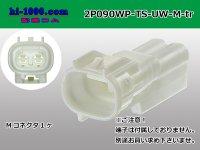 ●[sumitomo] 090 type TS waterproofing 2 pole M connector (no terminals) /2P090WP-TS-UW-M-tr
