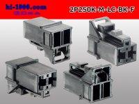 ●[yazaki] 250 type 91 series M-LC type 2 pole F connector black (no terminal)/2P250-M-LC-BK-F-tr