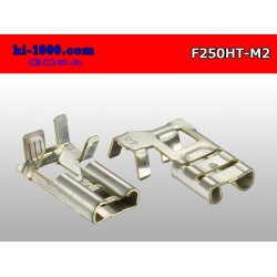Photo2: It is /F250HT-M2 250 type flag type female terminal - M2 (one set) [with the terminal cover]/F250HT-M2