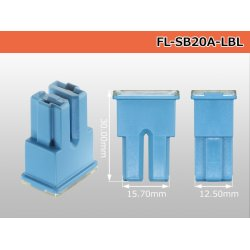 Photo2: Block  Type  Slow blow fuse 20A [color Light blue] /FL-SB20A-LBL