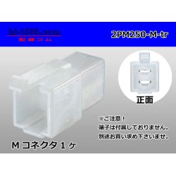 Photo1: 2PM250 Type  Male terminal side coupler   only   (No male terminal) 2PM250-M-tr