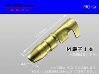 Round Bullet Terminal  [color Gold]  male  terminal   only  - male  No sleeve /MG-sr