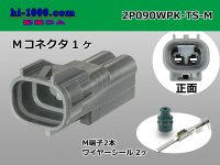 2P090 Type TS /waterproofing/  Male terminal side coupler kit M090WP-TS/2P090WPK-TS-M