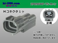 2P090 Type TS /waterproofing/  Male terminal side coupler   only  - male  No terminal /2P090WP-TS-M-tr