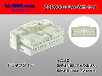 030 Type 91 connector 20 pole  Female terminal side coupler   only  - female  No terminal -A type  [color White] /20P030-91A-WH-F-tr