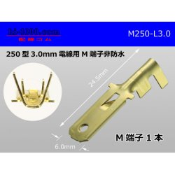 Photo1: [Yazaki] 250 type male terminal (for the 3.0mm2 electric wire) male terminal /M250-L-3.0