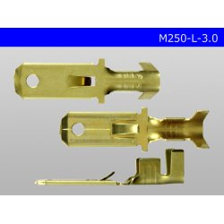 Photo3: [Yazaki] 250 type male terminal (for the 3.0mm2 electric wire) male terminal /M250-L-3.0