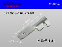 187 Type  No lock  male  terminal   only  - No sleeve /M187-sr