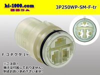 3P250 Type  [SWS]  /waterproofing/  Female side  Connector only  (No female terminal) /3P250WP-SM-F-tr