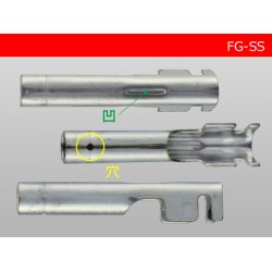 Photo3: Round Bullet Terminal - SS  size F terminal  With sleeve /FG-SS