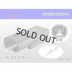 Photo1: [SWS] 090 Type  2  series  2 poles  Male terminal side coupler kit - [color Black] M090-SMTS/2P090K-1246-M