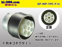 6 pole YPC /waterproofing/  Female side  Connector only  (No terminal) /6P-WP-YPC-F-tr