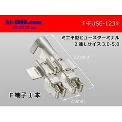 Photo1: Mini flat type  Type fuse Terminal   Duplicate   L size AVS3.0-5.0