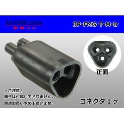 Photo1: Bullet Terminal 形 Terminal   Triode cylinder M connector - Triangle only  (No terminal) /3P-FMG-T-M-tr