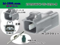[SWS]  2 poles 090 Type TS /waterproofing/ M Connector kit 0294( [color Gray] )/2P090WPK-TS-0294-M